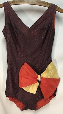 Vintage Silk And Lace Leotard