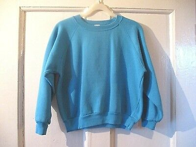 Boys or girls plain turquoise  BHS  Vintage Sweatshirt Aged 11 -12 yrs 152 cm