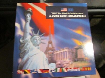 2002  The 50 State Quarters And Euro Coin Collection Us Mint Set  X1