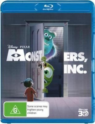 Disney Pixar Monsters, Inc 3D Bluray Region Free ABC New