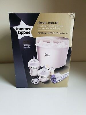 Tommee Tippee Closer to Nature Electric Steriliser Starter Kit - Unwanted Gift