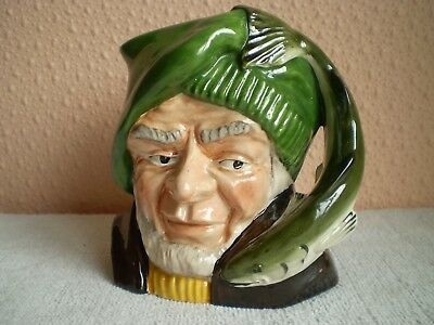 "Oldcourt Ware Pottery Character Jug : The Fisherman : 5"" : England"