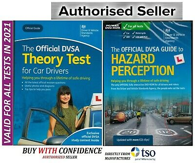 2019 DVSA Driving Car Theory Test Book And Hazard Perception DVD-ROM ThryBk+Hzrd
