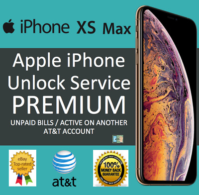 Att Premium Factory Unlock Code Service At&t For Apple Iphone Xs Xr X 8 8+ 7 7+