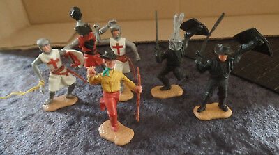 6 alte Figuren Timpo Toys made in England
