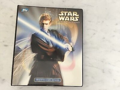 Star Wars attack of the clones Trading Cards plus binder