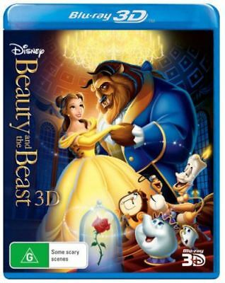 Disney Beauty And The Beast 3D 1-Disc Bluray (1991) Region ABC New