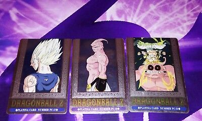 Lot 3 cartes DRAGON BALL Z DBZ HERO COLLECTION PART 3 PLATINA CARDS PC-31 19 17