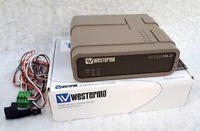 WESTERMO MA-21 20ma Current Loop To RS232 Serial Converter Boxed