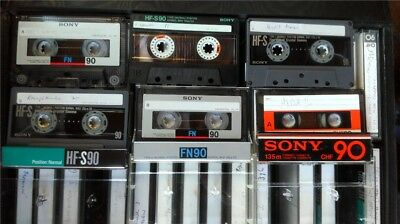 VINTAGE SONY CASSETTES x 32 in a box radio recordings 70s/80s Tapes Type I  used