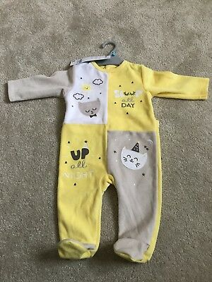 NWT Cat Theme Baby Grow 6 Months