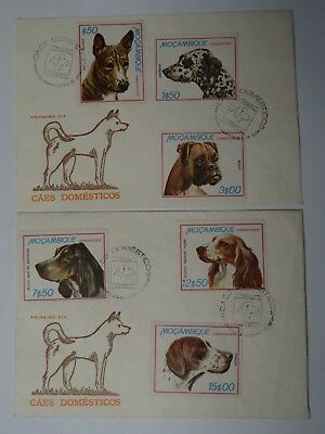 First Day Covers Mozambique  1979  Fish, Dogs & Trains - 18 stamps - 6 envelopes