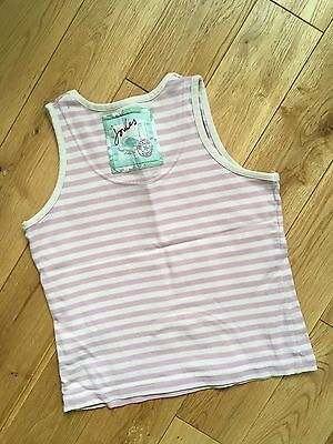Girls Little JOULES Candy Stripe Vest Top Age 6-7 Years