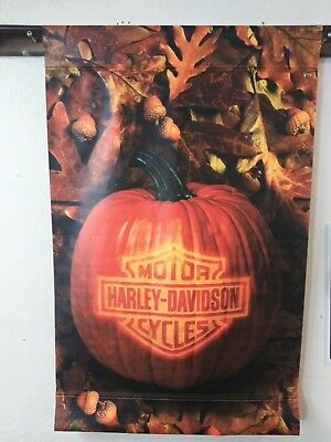 Harley Davidson Motorcycle fall Dealer banner? Double sided! 47in long 30in wide
