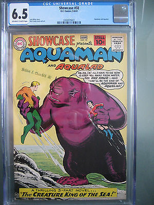 Showcase #32 3rd Aquaman Tryout Issue CGC 6.5 Universal DC Comics 1961