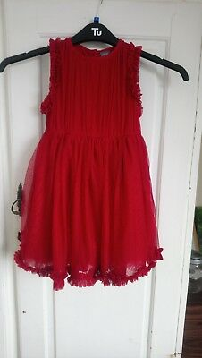 Next Red Girls Christmas Dress Age 3-4