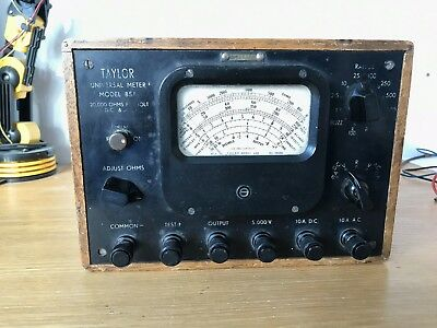 Old Analog Meter Multimeter Voltmeter Ampermeter