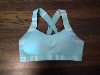 3107950917 Brooks Moving Comfort Uplift Crossback Mint Green Sports Bra Size Large