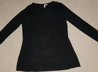 Maternity Size 8 Black Long Sleeved Top ASOS