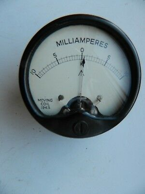 Vintage   MILITARY   WW 2  MILLIAMMETER   0 - 10   Dated  1943  Very  Good