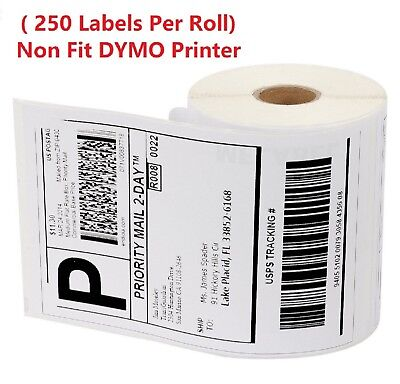 "4 Roll 250 4"" x 6"" Zebra ZP450 2844 Eltron Direct Thermal Shipping 1000 Labels"