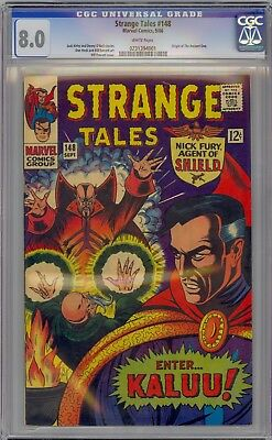 Strange Tales # 148 Cgc 8.0 White Pages