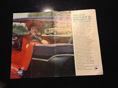 1959  Studebaker Lark And Silver Hawk Sales Brochure! Folded In Half! Nice!