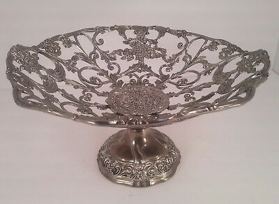 Antique Silver Plated Pedastol Bowl W/ Felted Bottom **stunning!!**