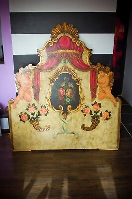 "LUXURY ANTIQUE VENETIAN HEADBOARD 57"" x 63"" Pre 1940"