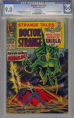 Strange Tales # 162 Cgc 9.0 White Pages