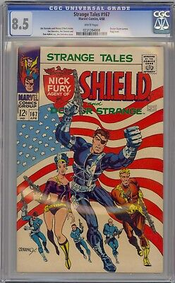 Strange Tales # 167 Cgc 8.5 White Pages