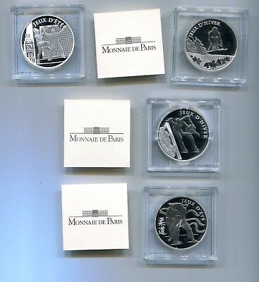 FRANKREICH 4 x 10 EURO PP SILBER OLYMPIADE 2009-2012 VANCOUVER-SOTSCHI - LONDON