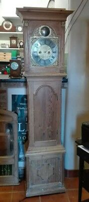 Antique Scandinavian Pine8 Day Grandfather Clock Free Del. see conditions