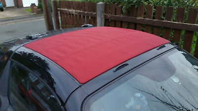 USED Black Smart Roadster Roof (Soft top) Re-trimmed in Burgundy - outright sale