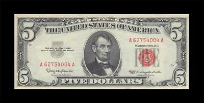 1963 UNITED STATES NOTE FIVE DOLLARS $5 (( aUNC ))