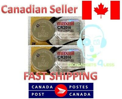 MAXELL CR2016 DL2016 3V lithium coin battery Expiry 2022 - [2 Batteries]