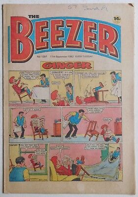 BEEZER Comic #1391 - 11th September 1982