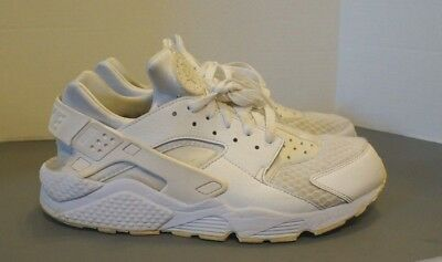 NIKE AIR HUARACHE TRIPLE WHITE Pure Platinum RETRO OG 318429-111 men's 12