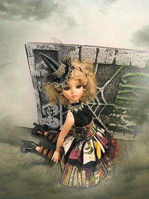 Ellowyne Wilde Halloween Witch Froufrou Fun Outfit Fashion Dress Ooak