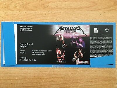 Ticket für METALLICA in Mannheim Front of Stage 1 am 25.08.2019 FOS 1