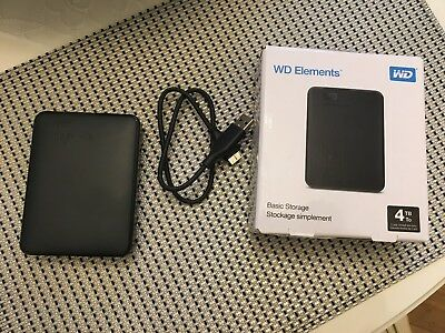 Western Digital 4TB externe USB 3.0 Festplatte HDD 2,5 Zoll WD Elements