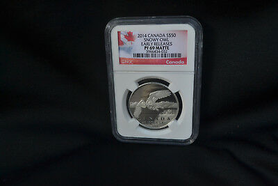 Canada 2014 Wildlife Snowy Owl $50 Pure Silver Matte NGC PF69
