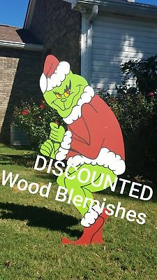 Discounted Grinch Stealing Christmas Lights Yard outdoor Decoration Left Facing