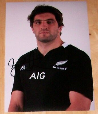 Sam Whitelock New Zealand All Blacks  Rugby Hand Signed Autograph 12X8 Photo