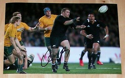 Owen Franks New Zealand All Blacks  Rugby Hand Signed Autograph 12X8 Photo