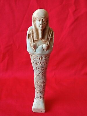 Shabti Egyptian Ancient Ushabti  Faience Statue Rare Egypt Figure Antique