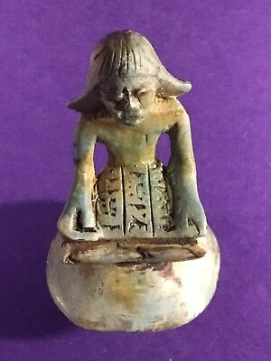Very Rare - Stunning - Circa 664-332Bc Ancient Egyptian Piece W/hieroglyphics