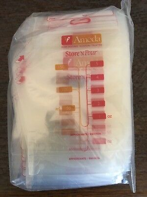Ameda Store 'N Pour Breast Milk Storage Bags - 50 sealed