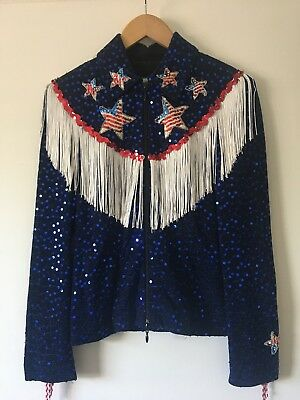 Rodeo Queen Shirt Patriotic. Made By Joseph Ribkoff, One Of A Kind!
