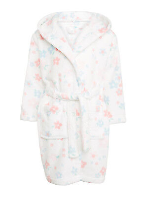 John Lewis Baby Children's Faded Floral Dressing Gown, White/Pastels 9-12mth